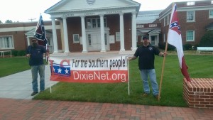 League of the South members with a microprotest.