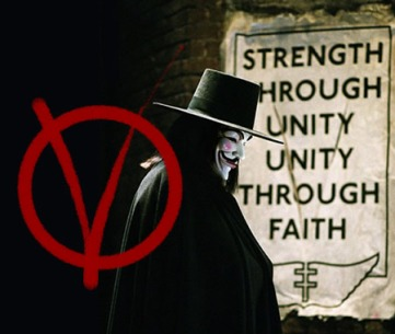 Though the V mask has been appropriated by a range of fringe movement, the original comic was about anarchism as a challenge to a fascist state.