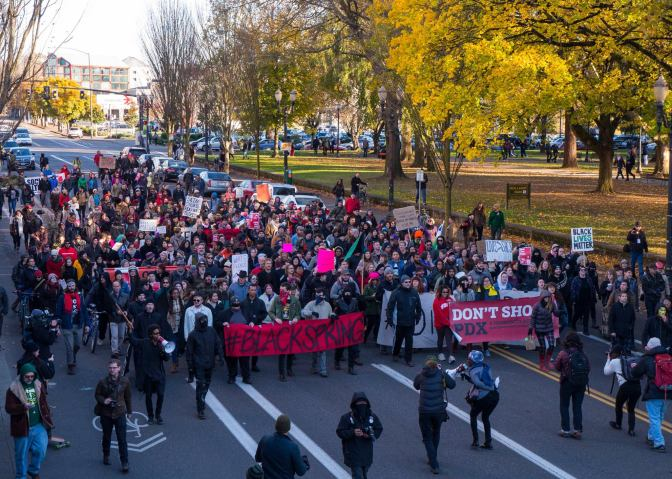 Black Lives Matter Confronts Black Friday in Portland