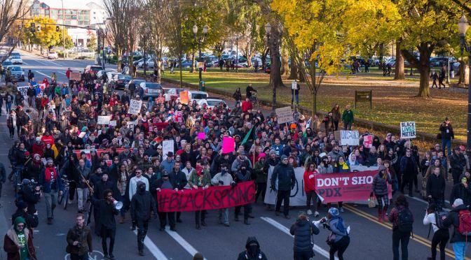 Black Lives Matter Confronts Black Friday in Portland