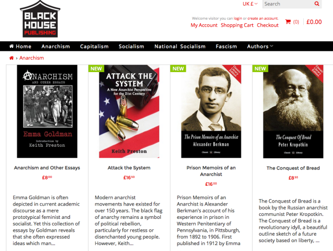 Why is a Fascist Publishing House Releasing Books by Goldman, Berkman, and Kropotkin?