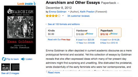 emma goldman anarchy essay