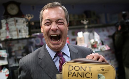 Nigel Farage, the leader of UKIP