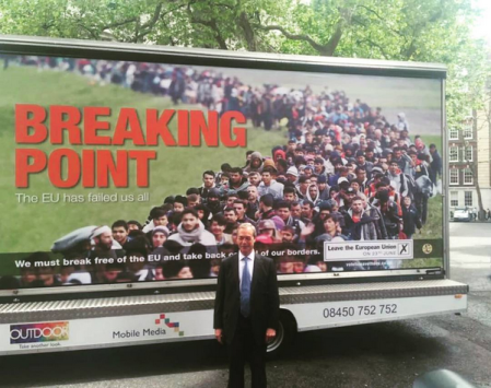 This is the kind of campaign that UKIP ran for Brexit, using images of refugees to trigger a racist response in England.