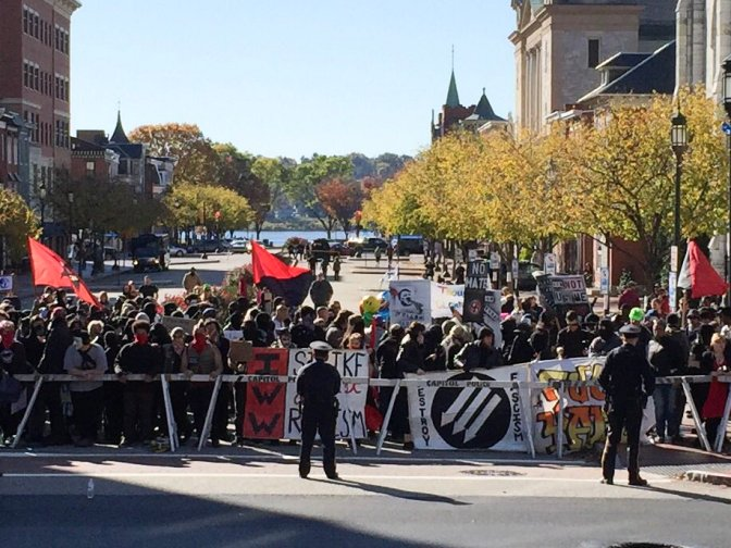 Anti-Fascist Overwhelm Nazis at Harrisburg Anti-Diversity Rally [VIDEOS]