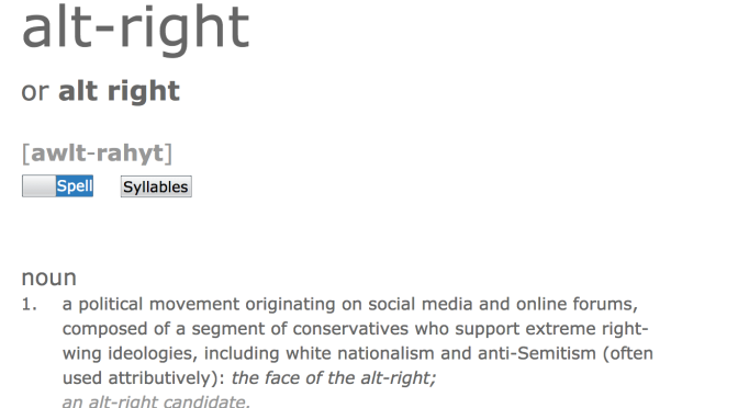 "Dictionary.com Adds ""Alt Right"" as New Word"