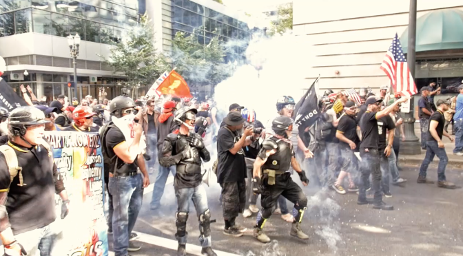 Patriot Prayer and the Proud Boys Clash With Antifascists in Portland in Bloody Confrontation [VIDEO]