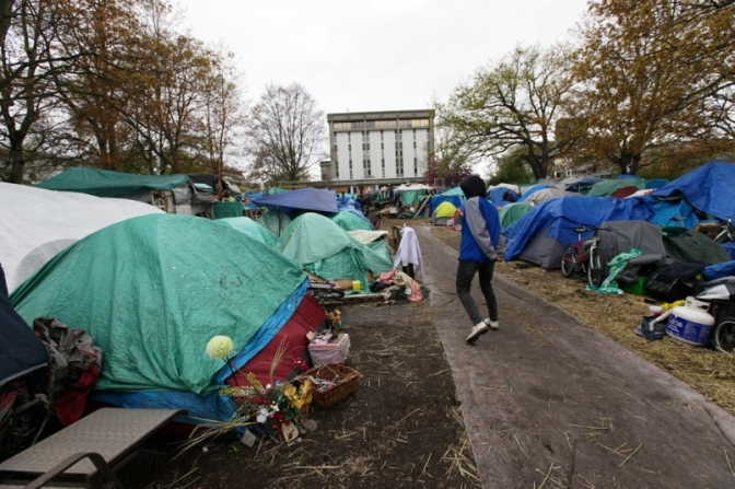 Organizing Matters: Tent Cities, Self-Determination, and (Against) the Fascist Targeting of Homeless People