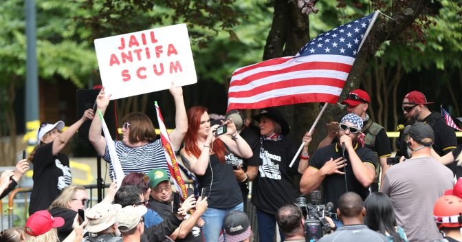 Survivors and Antifascists Confronting Misogynists, Proud Boys, and Patriot Prayer in Portland This Saturday