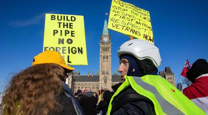 Far Right Yellow Vests Convoy Rolls into Ottawa: Met with Resistance