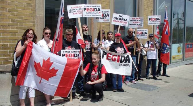 PEGIDA Racists Rally Again in Toronto, Confronted by Antifascsists, May 4, 2019